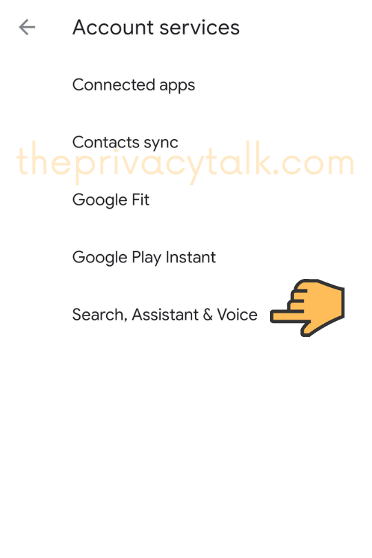 Android Security Settings assistant voice